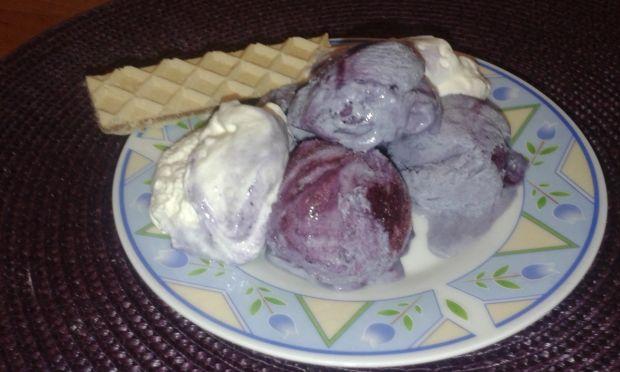 Domowe lody z borówki amerykańskiej