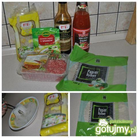 Domowe Sajgonki z ryżem i surówką