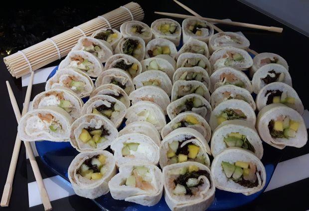 Domowe sushi w tortilli