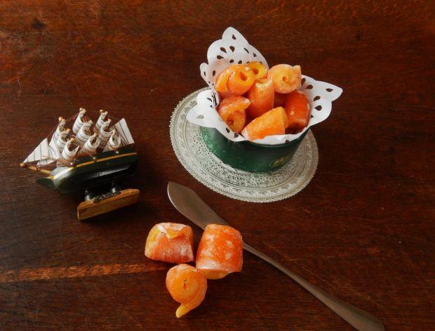 Domowe żelki z kandyzowanej skórki pomarańczowej