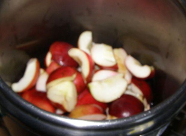 Domowy dżem z ciemnych winogron,jabłek-szybkowar..