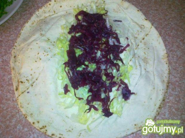 Domowy kebab z czerwoną kapustą