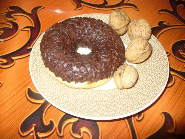 Donaty z polewą czekoladową