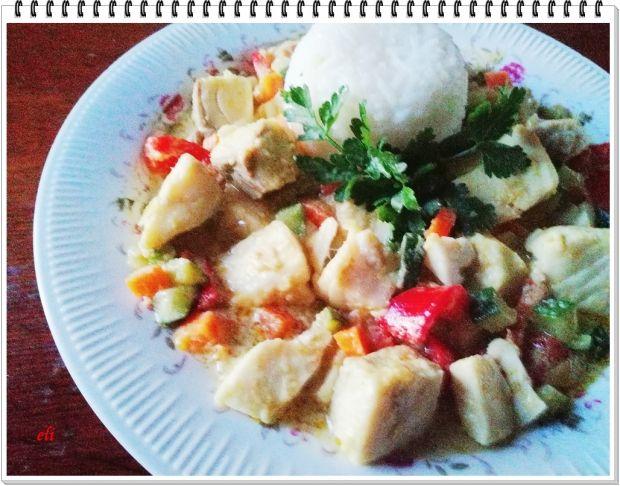 Dorsz curry Eli z warzywami