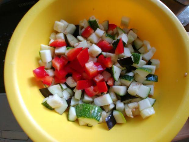 Dorsz/kasza/warzywa (cukinia, bakłażan, papryka)