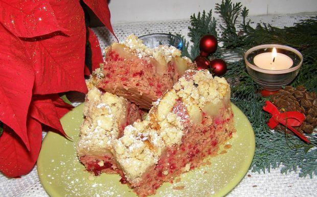 Drożdżowe ciasto z burakiem,fasolą,jabłkami