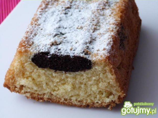 Dwukolorowe ciasto ucierane