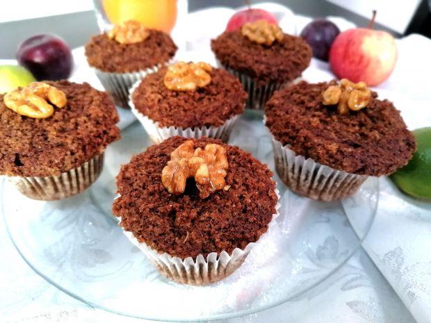 Dyniowe muffiny z kruszonka na mące orkiszowej