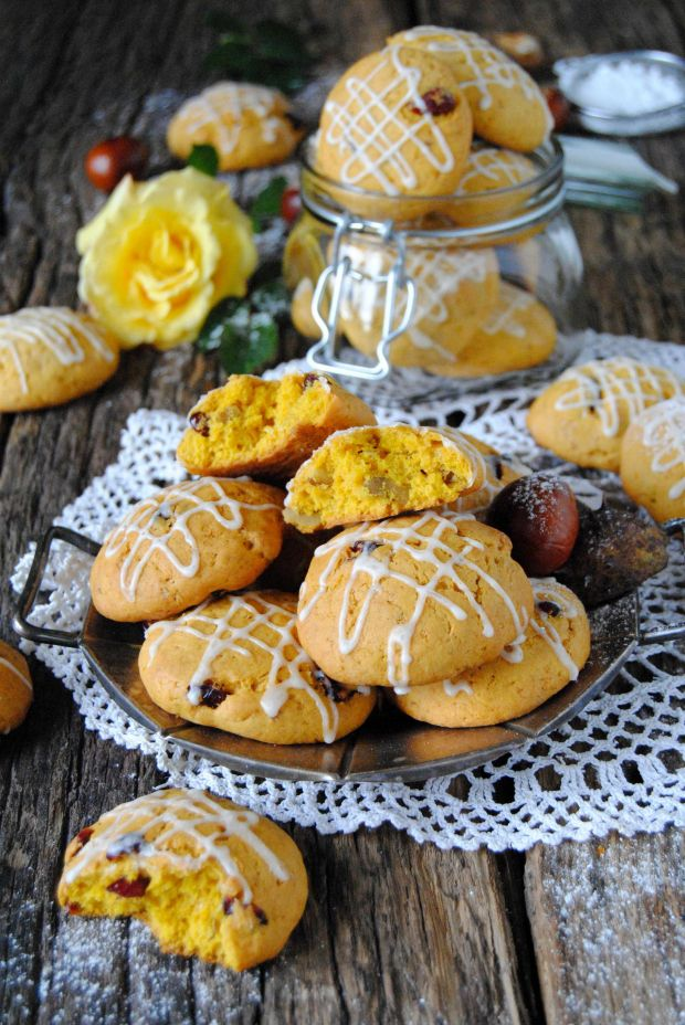 Dyniowo-bakaliowe ciasteczka