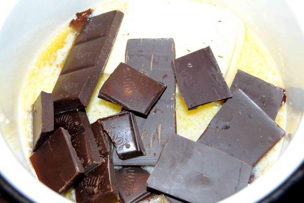 Dyniowy sernik na spodzie brownies
