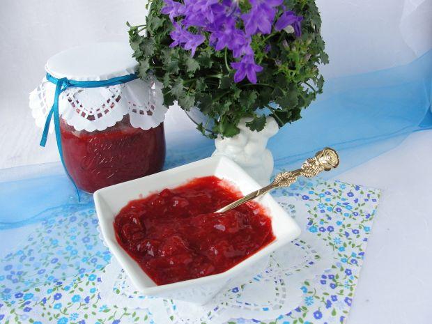 Dżem truskawkowo rabarbarowy z wanilią