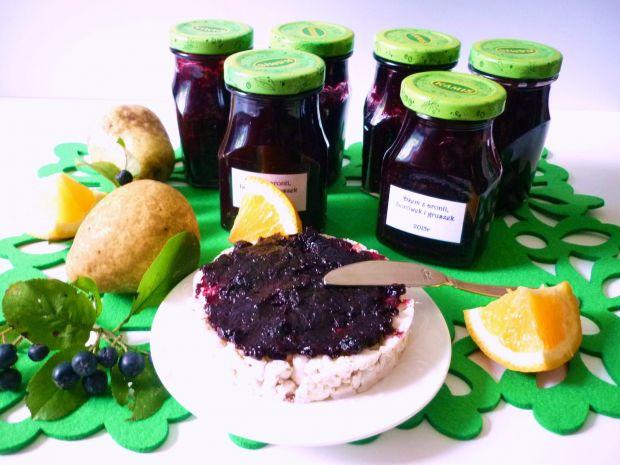 Dżem z aronii, borówek i gruszek