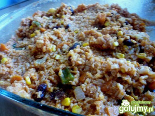 Dzika zapiekanka z ryżem