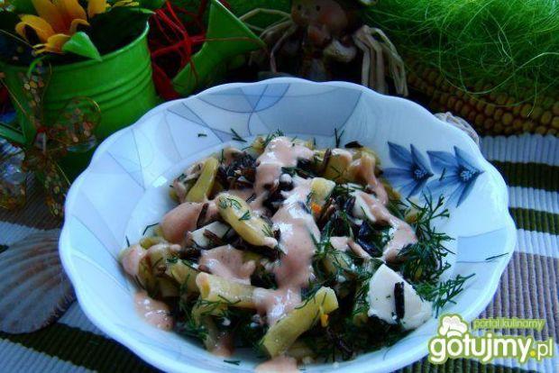 Dziki ryż z mozzarellą i fasolką