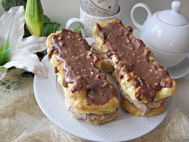 Eklerki z kremem czekoladowym