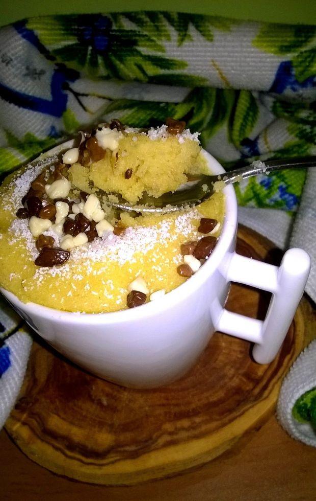 Ekspresowe kukurydziane babeczki (z filiżanki)