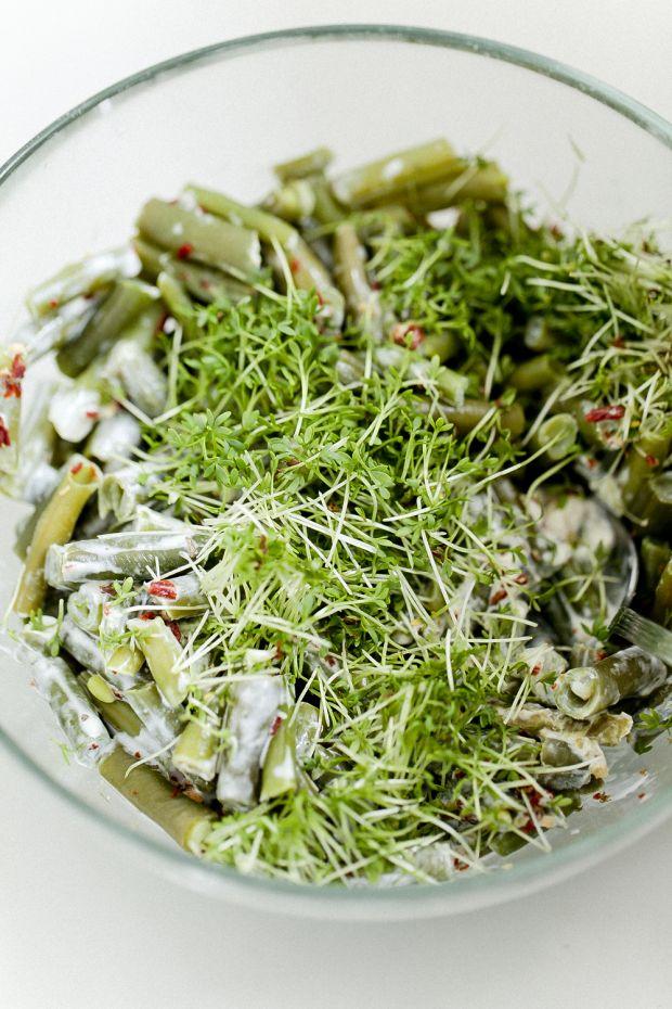 Fasolka majonezowo-rzeżuchowa