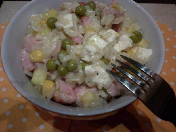 Feta z kurczakiem w warzywnym risotto