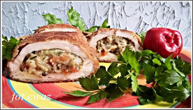 Filet faszerowany warzywami i serem