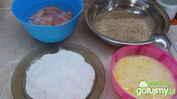 Filet panierowany otrębami i bułką tartą