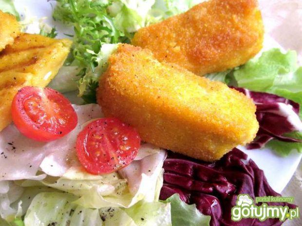 Filet rybny z grillowaną polentą