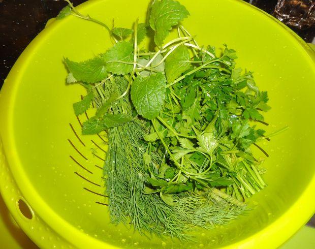 Filet z dorsza otulony ziołowo - miętową pierzynką