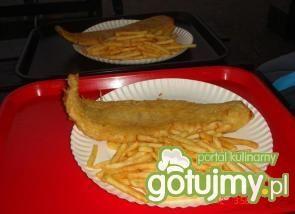 Filet z dorsza smażony w głębokim tłuszc