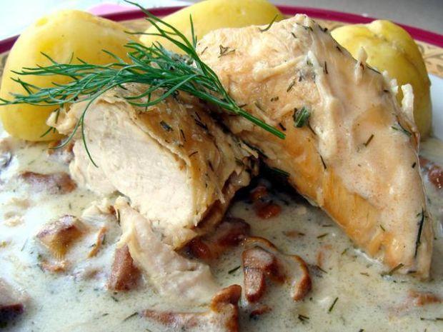 Filet z kurczaka w kurkach