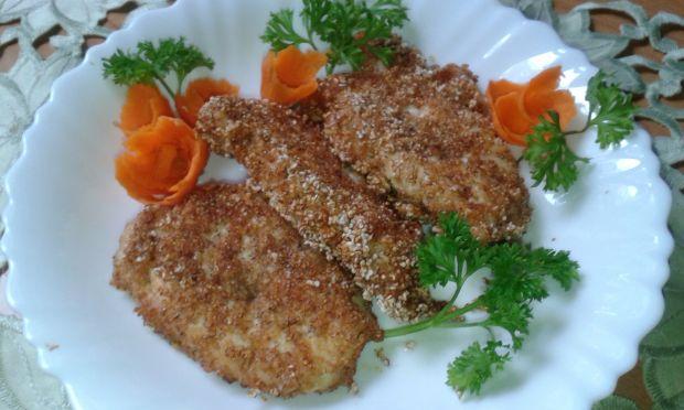 Filet z kurczaka w panierce z amarantusa