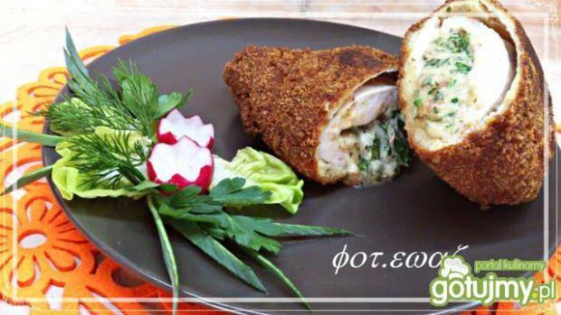 Filet z mozzarellą i zieleniną