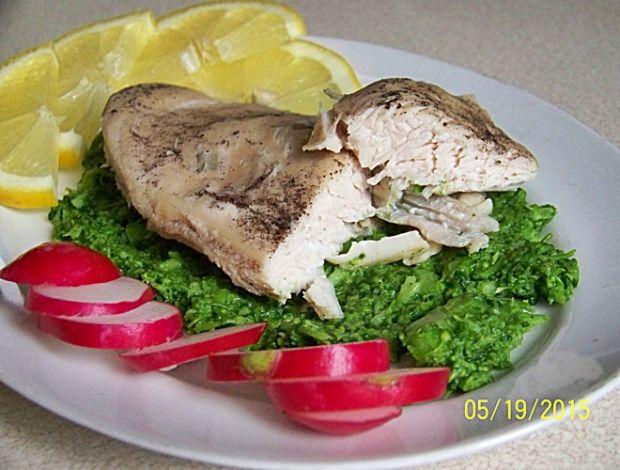 FIT kurczak w musie brokułowo- migdałowym