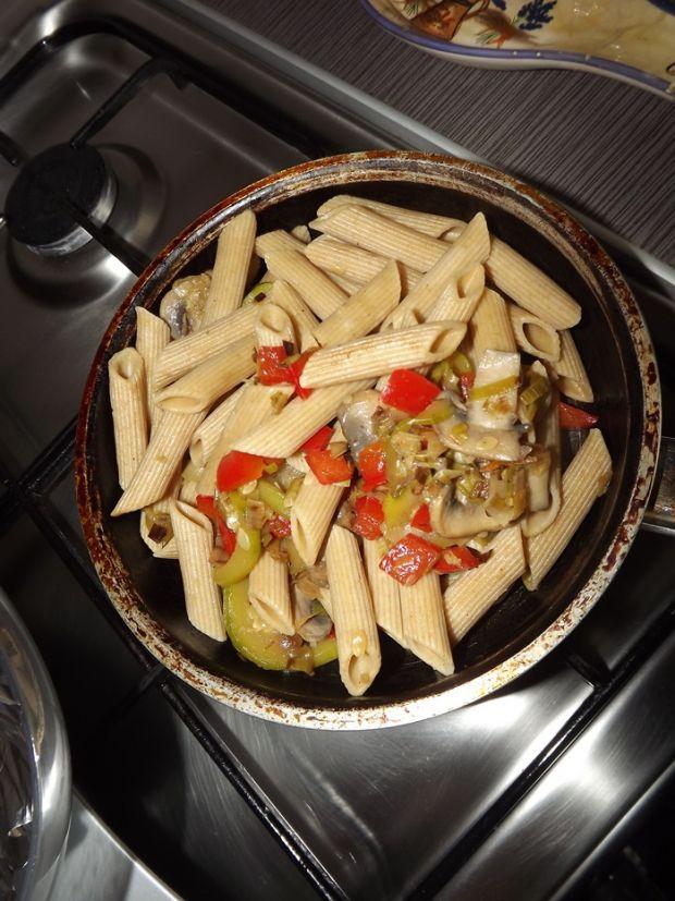 fit makaron z warzywami