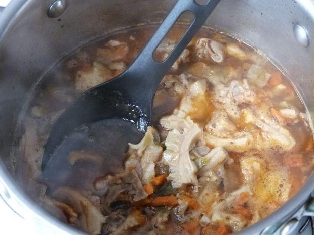 Flaki wołowe z wieprzowym mięsem