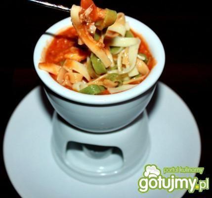 Fondue pomidorowo serowe