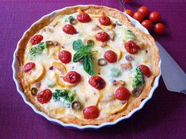 Francuska tarta z kurczakiem i warzywami