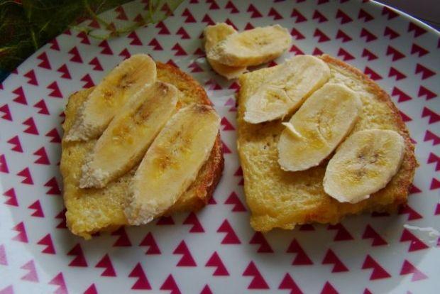 Francuskie grzanki na słodko z bananem