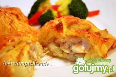 Francuskie paczuszki z rybą