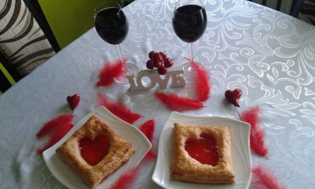 Francuskie Walentynkowe ciasteczka.