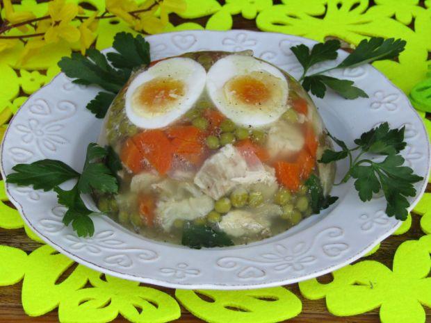 Galaretka drobiowo- wieprzowa z jajkiem