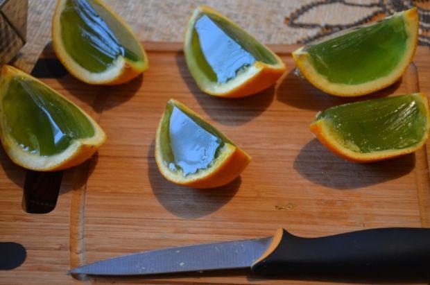 Galaretka w pomarańczy