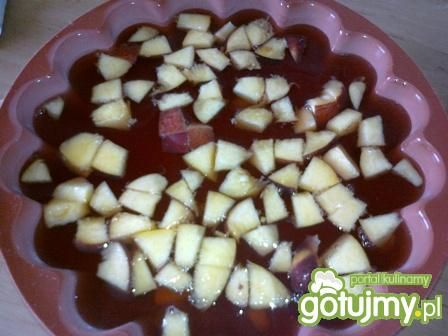 Galaretka z brzoskwinią.