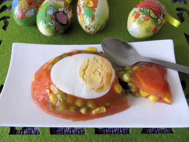 Galaretka z jajkiem