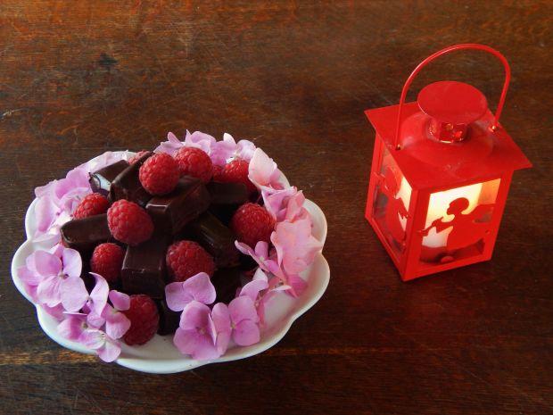 Galaretki malinowe w czekoladzie