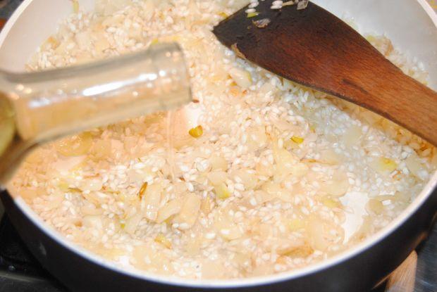 Gęsie udka z szpinakowym risotto