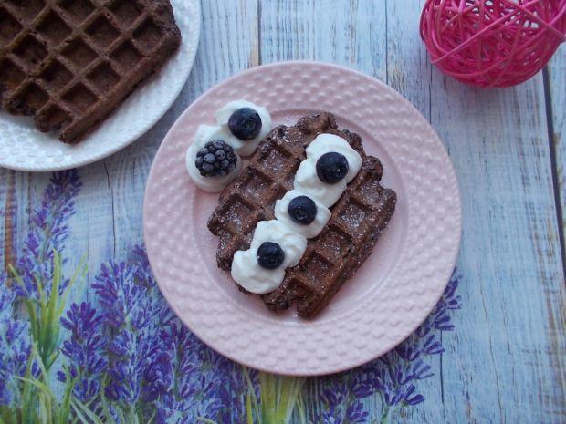Gofry cukiniowo-kakaowe (słodkie)