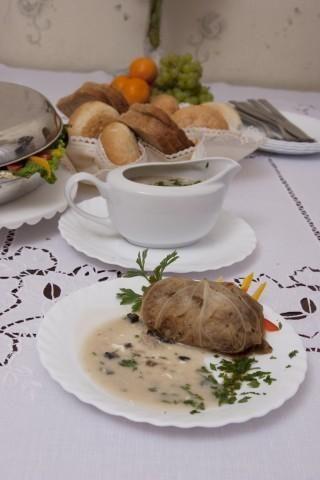 Gołąbki z grzybami i ryżem