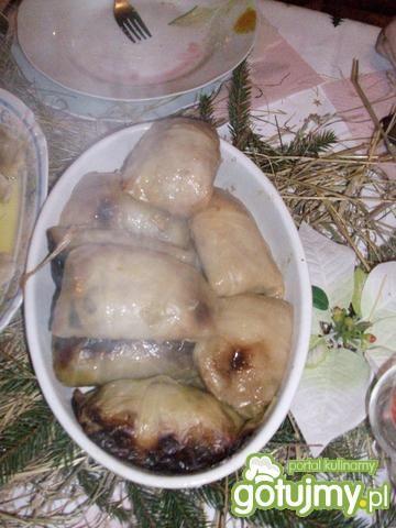 Gołabki z ziemniakami i boczkiem