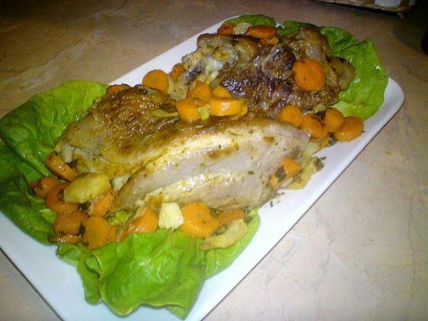 Golonka z warzywami