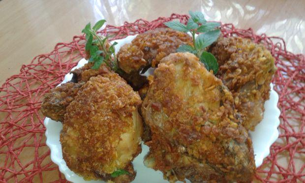 Gotowany kurczak w panierce kokosowo......