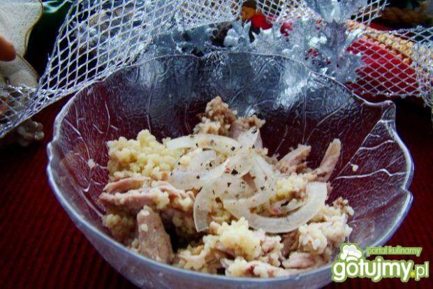 Gotowany schab z kuskusem